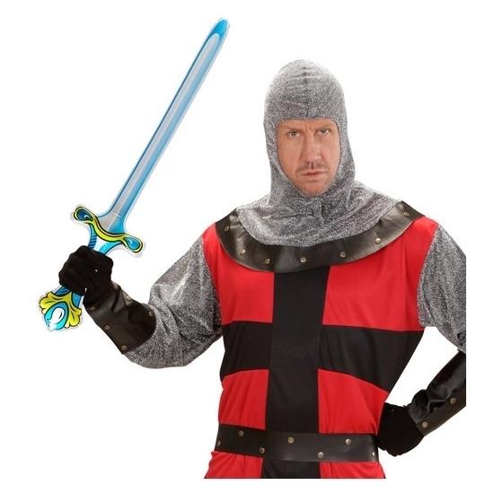 Opblaasbare ridder zwaard 77 cm