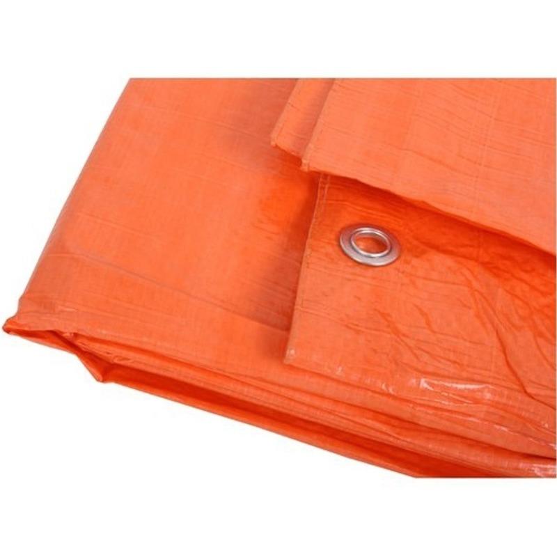 Oranje afdekzeil-dekkleed 6 x 10 m