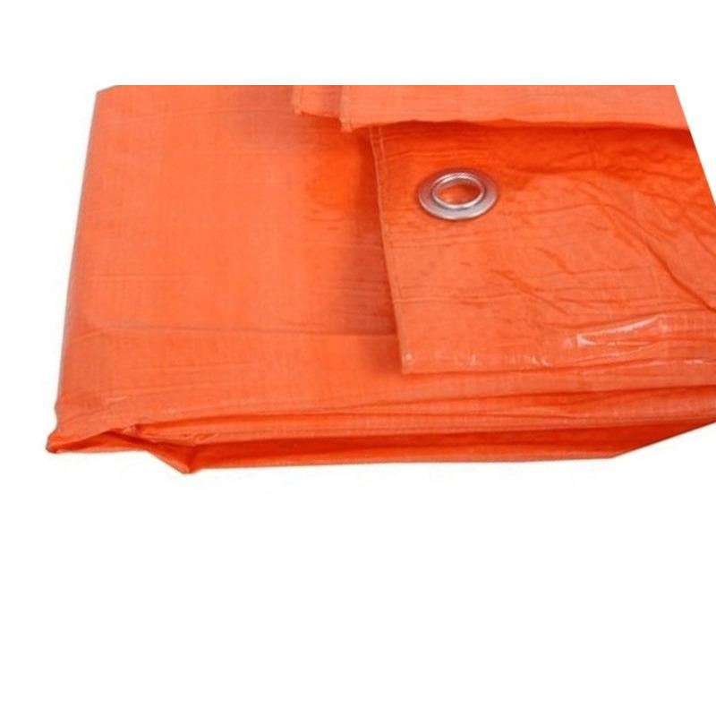 Oranje afdekzeilen-dekzeil 3.9 x 4.9 meter