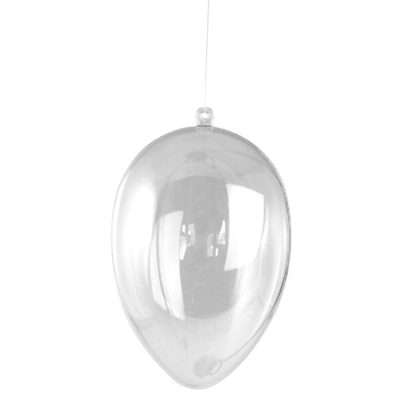 Paasdecoratie hangend plastic ei 6 cm