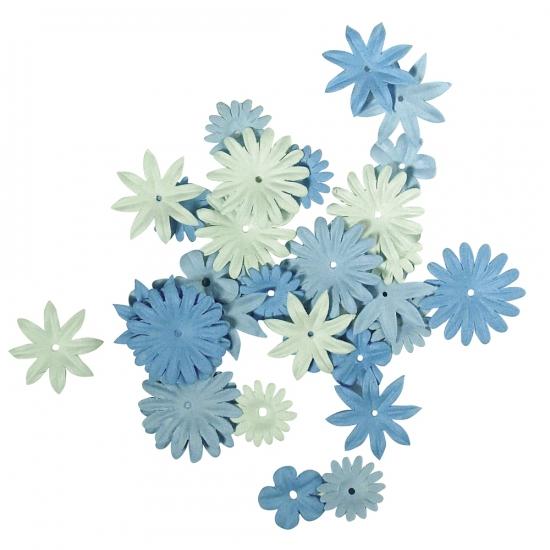 Papieren Hobby Bloemen Blauw