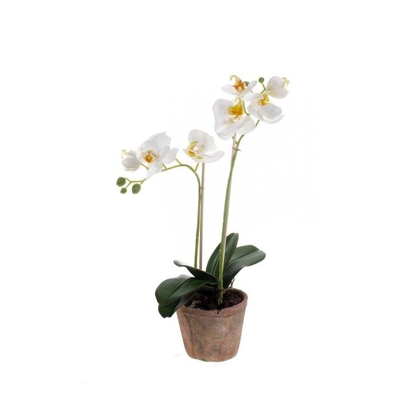 Phalaenopsis kunst plant in pot 42 cm roze
