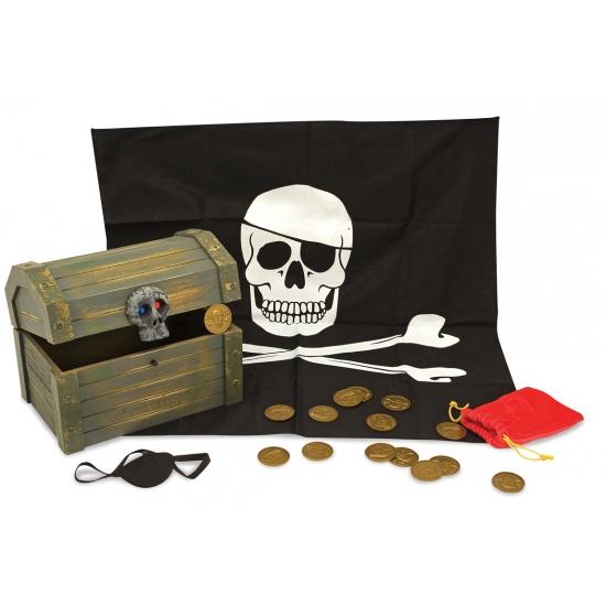 Piraten kisten met accessoires