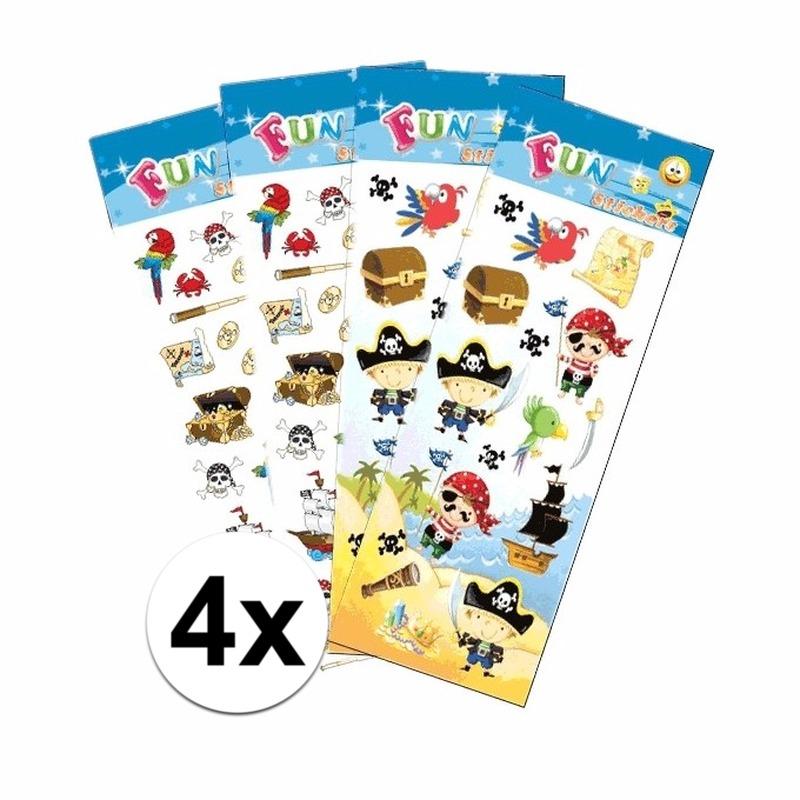 Piraten thema stickers pakket