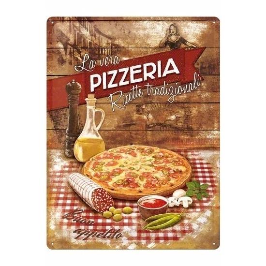 Pizza muurdecoratie 30 x 40 cm