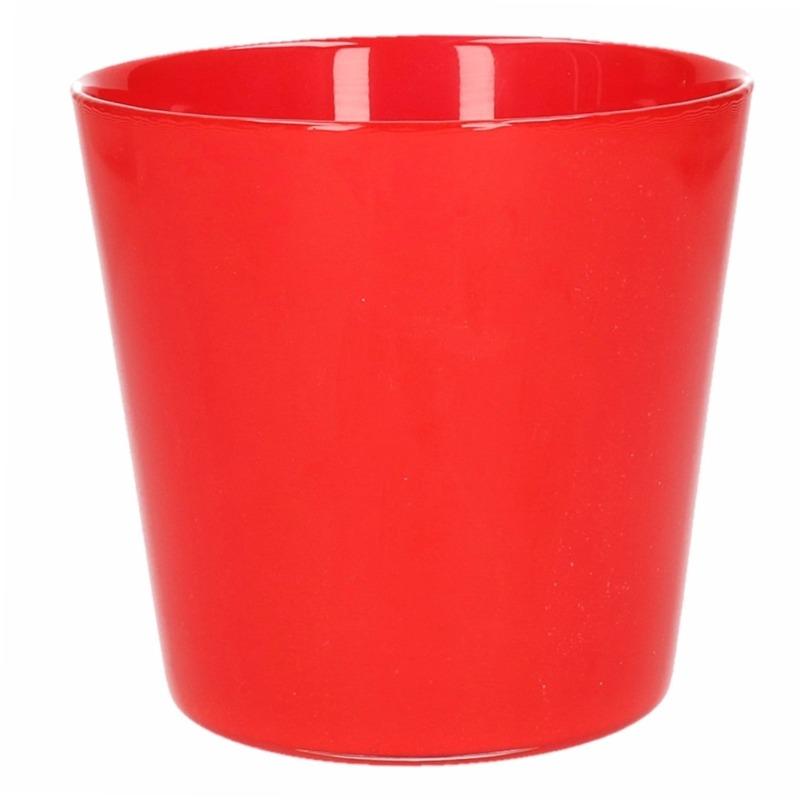 Plantenpot van glas rood 12 cm