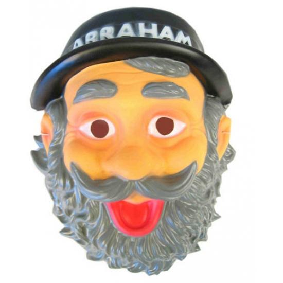 Plastic abraham masker met hoedje
