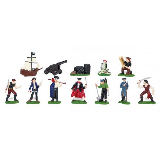 Plastic piraten en accessoires in koker