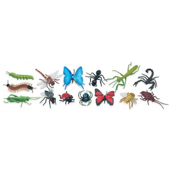 Plastic speelgoed insecten dieren 14 stuks