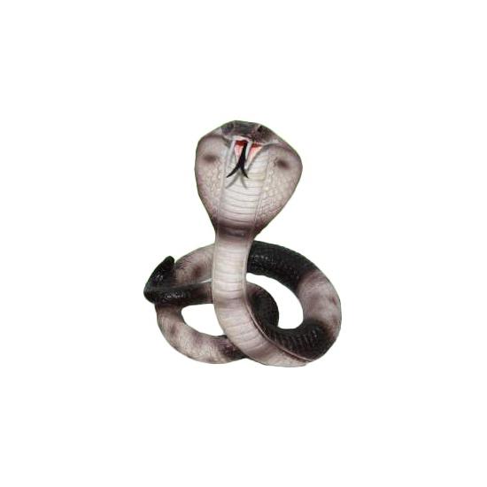 Polyresin gevlekte cobra slang 15 cm