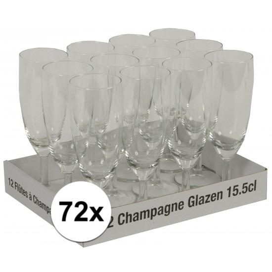 Prosecco glazen 72 stuks