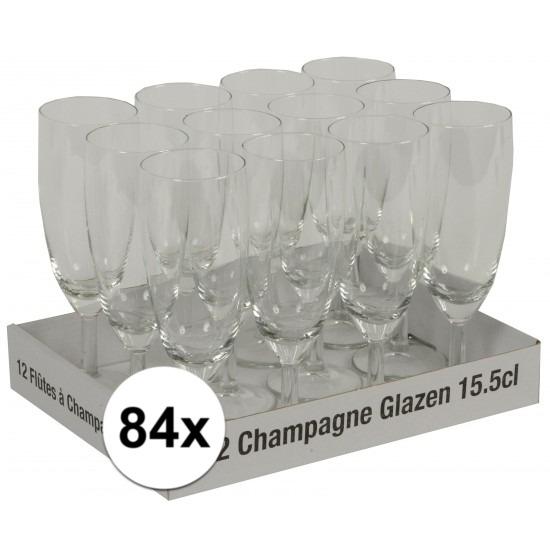 Prosecco glazen 84 stuks