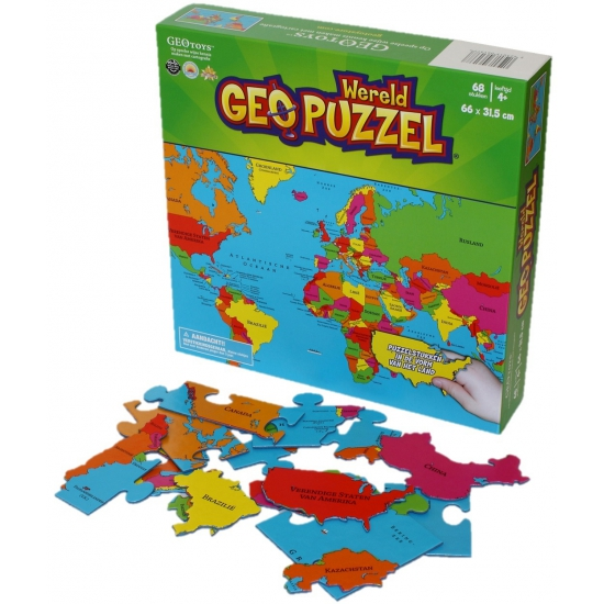 Puzzel van de aarde 68 stukjes