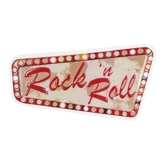 Rock and Roll muur decoratie 33x60 cm