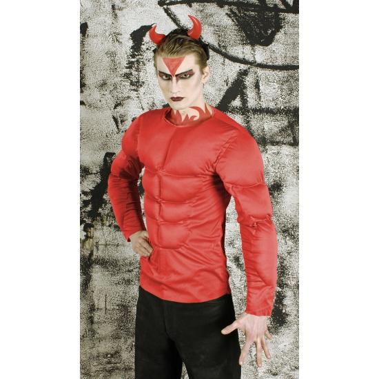 Rood bodybuilder kostuum