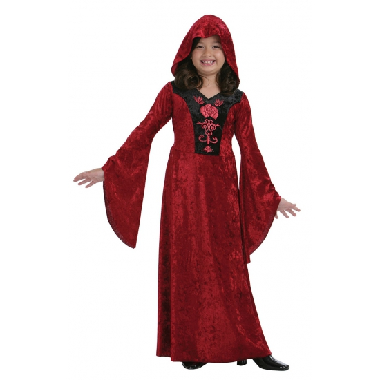 Rood Halloween vampier kostuum voor meisjes