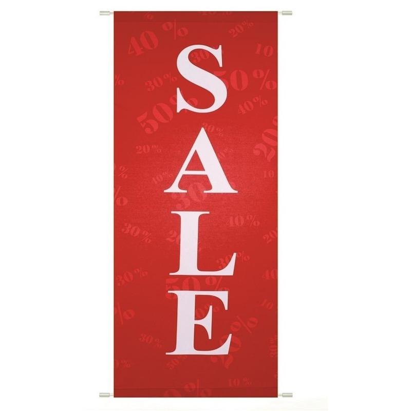 Sale/uitverkoop banier vlamwerend 75 x 180 cm