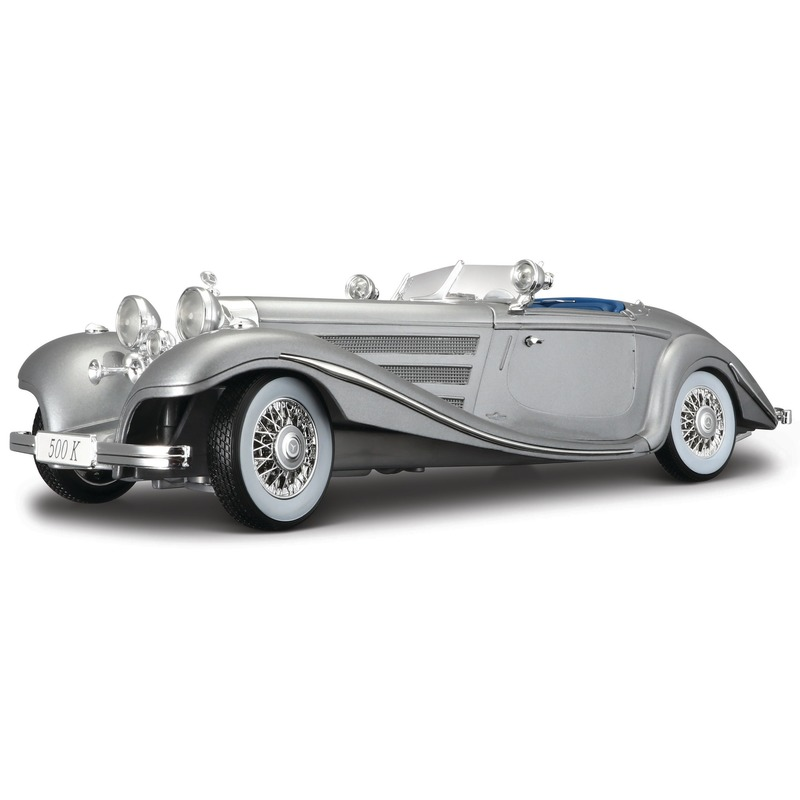 Schaalmodel Mercedes 500K cabriolet 1936 1:18