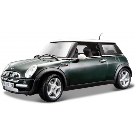Schaalmodel Mini Cooper groen 1:18