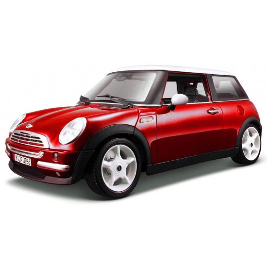 Schaalmodel Mini Cooper rood 1:18