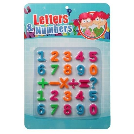 Schoolbord cijfers magnetisch 26 stuks