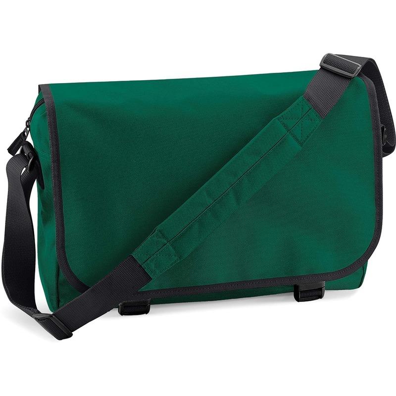 Schooltas-laptoptas donkergroen met verstelbare schouderband 15 liter