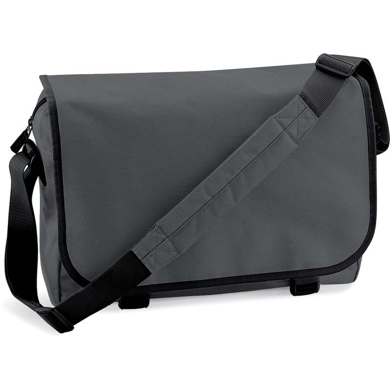 Schooltas-laptoptas grijs met verstelbare schouderband 15 liter