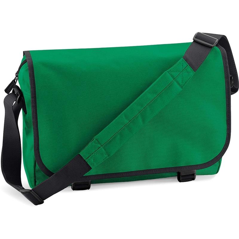 Schooltas-laptoptas groen met verstelbare schouderband 15 liter