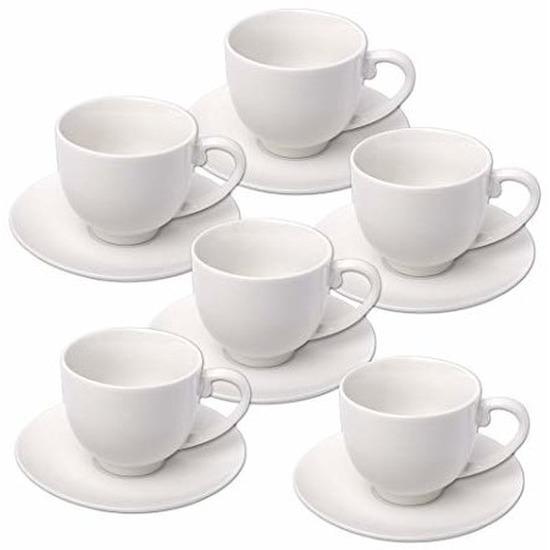 Set van 6x stuks Espresso koffie kop- en schotels