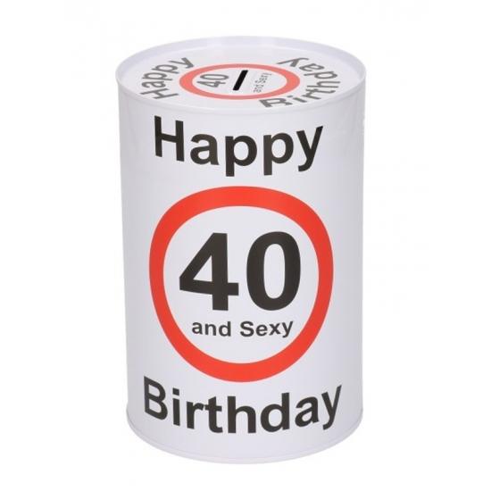 Spaarpot 40 jaar 15 cm
