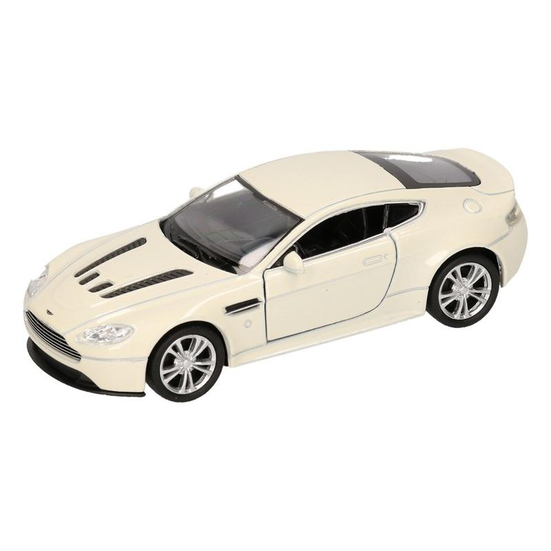 Speelgoed Aston Martin Vantage wit Welly autootje 1:36