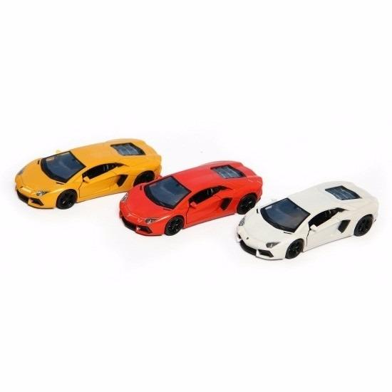 Speelgoed Lamborghini Aventador LP700-4 geel Welly autootje 12 cm