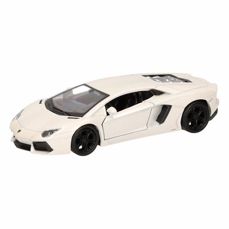 Speelgoed Lamborghini Aventador LP700-4 wit Welly autootje 12 cm
