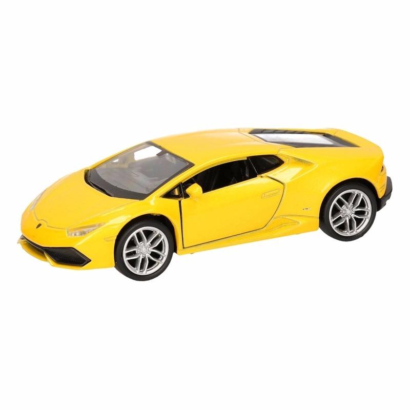 Speelgoed Lamborghini Huracan LP610-4 geel Welly autootje 12 cm