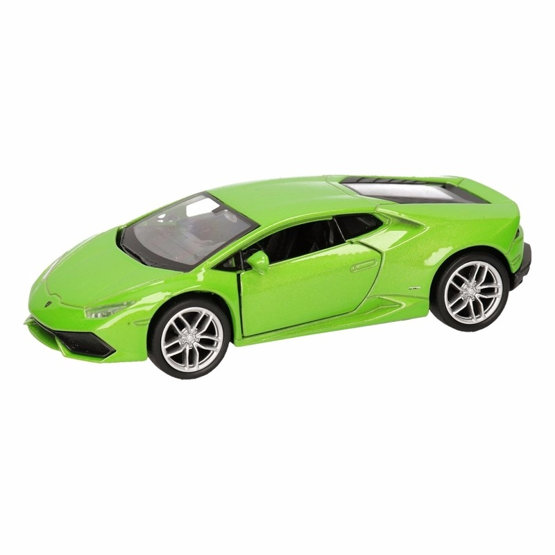Speelgoed Lamborghini Huracan LP610-4 groen Welly autootje 12 cm