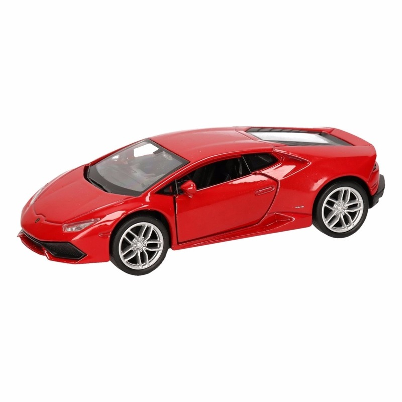 Speelgoed Lamborghini Huracan LP610-4 rood Welly autootje 12 cm