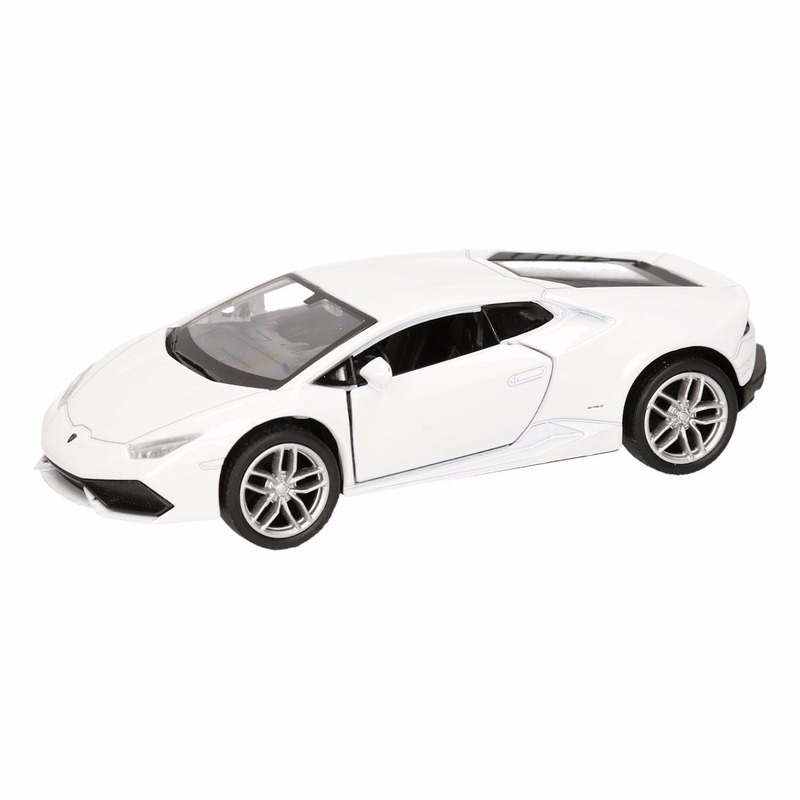 Speelgoed Lamborghini Huracan LP610-4 wit Welly autootje 12 cm