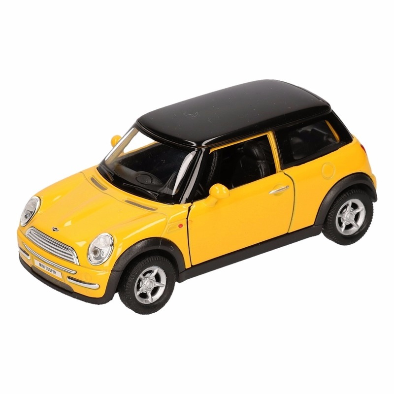 Speelgoed Mini Cooper geel Welly autootje 11 cm