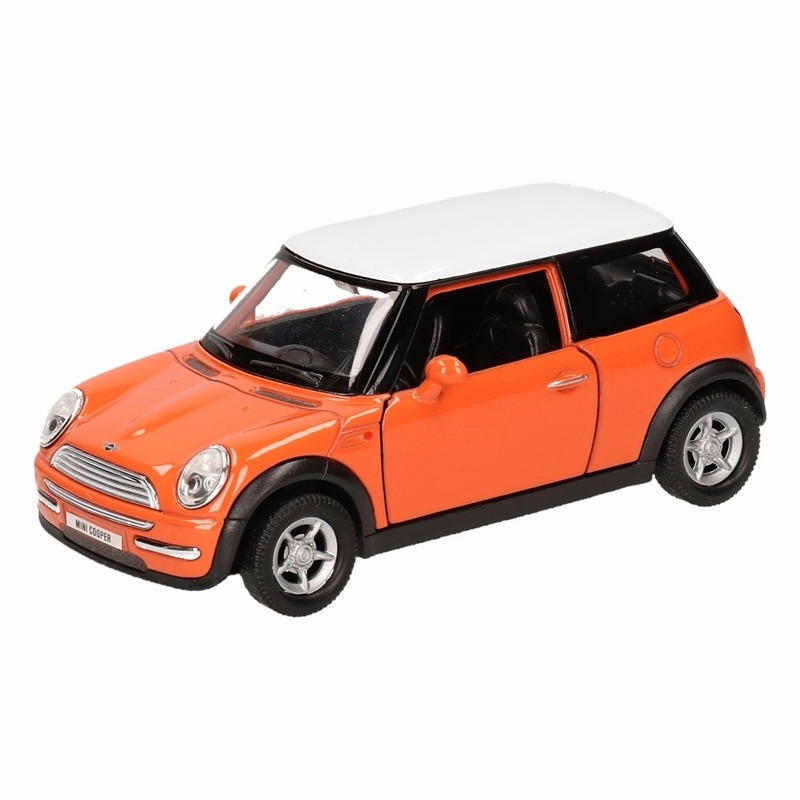 Speelgoed Mini Cooper oranje autootje 12 cm