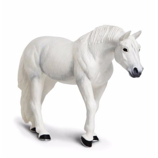 Speelgoed nep Lipizzaner paard hengst wit 12 cm