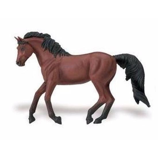 Speelgoed nep Morgan paard merrie bruin-zwart 15 cm