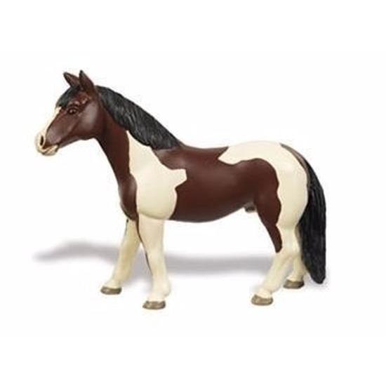 Speelgoed nep Pinto paard merrie 12 cm