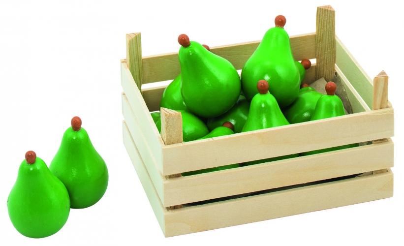 Speelgoed peren in kist