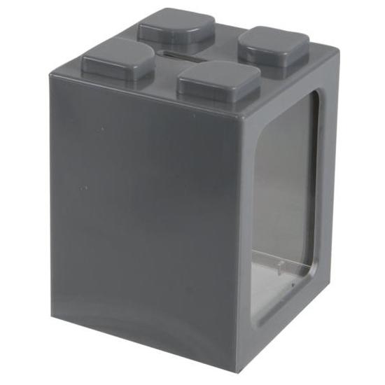 Stapelbare spaarpot grijs 11 cm