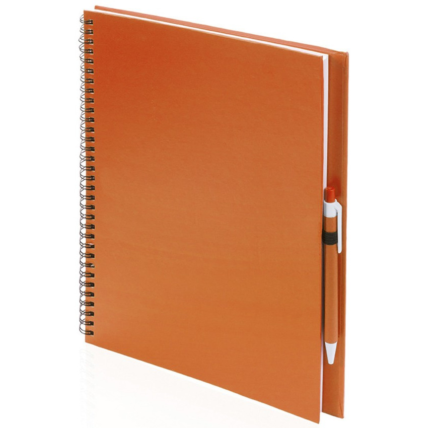 Tekeningen maken schetsboek A4 oranje kaft
