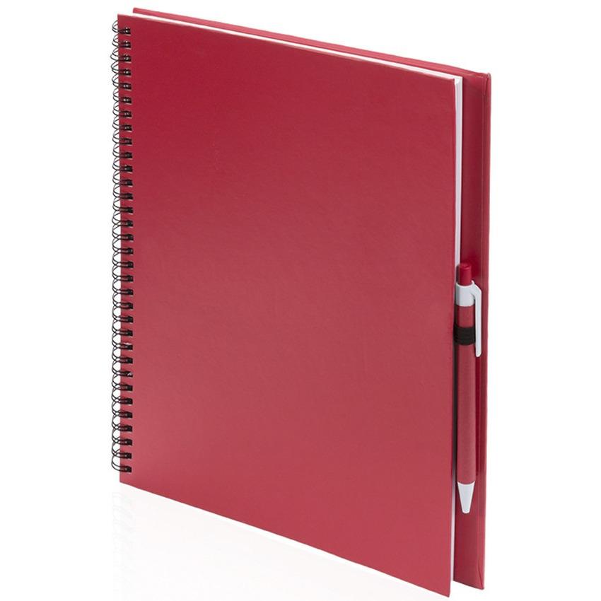Tekeningen maken schetsboek A4 rode kaft