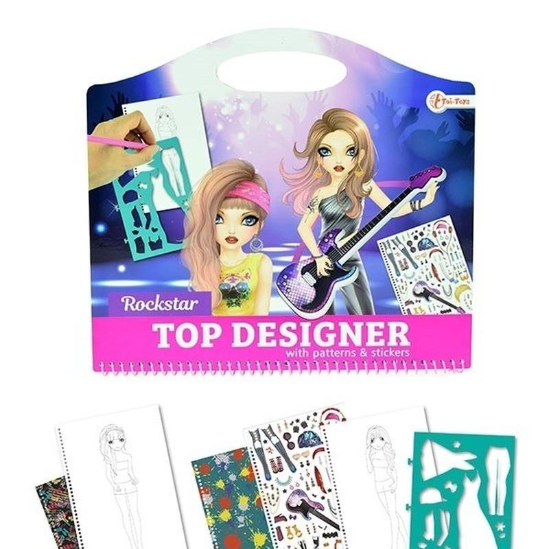 Tekenset kleding ontwerpen rockstar creatief speelgoed