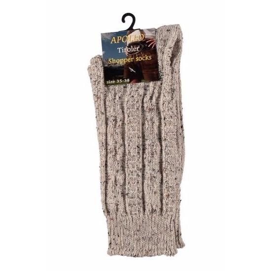 Tiroler- Bierfeest- lederhose sokken beige heren en dames