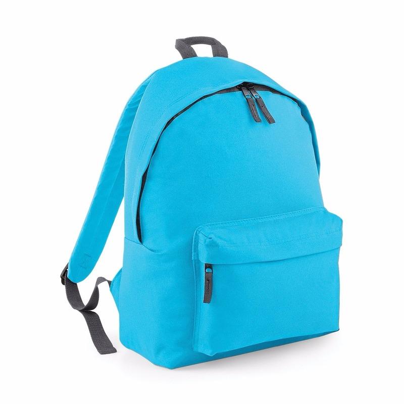 Turquoise rugtas reistas met voorvak 18 liter voor volwassenen