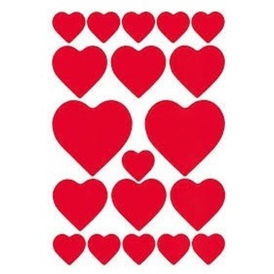 Valentijn hartjes love stickers 114 stuks